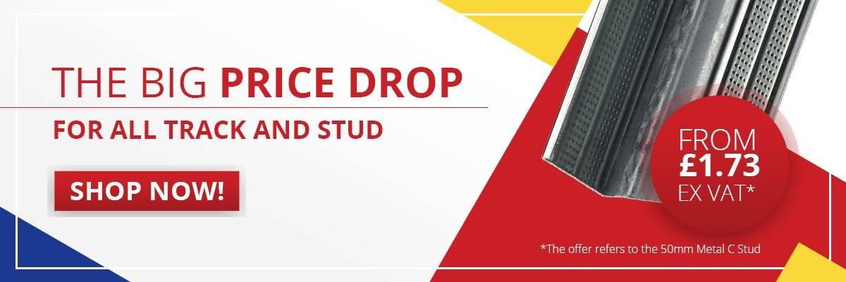 Metal Stud and Track Price Drop
