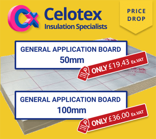 Save up to 38% on Celotex General Application Boards